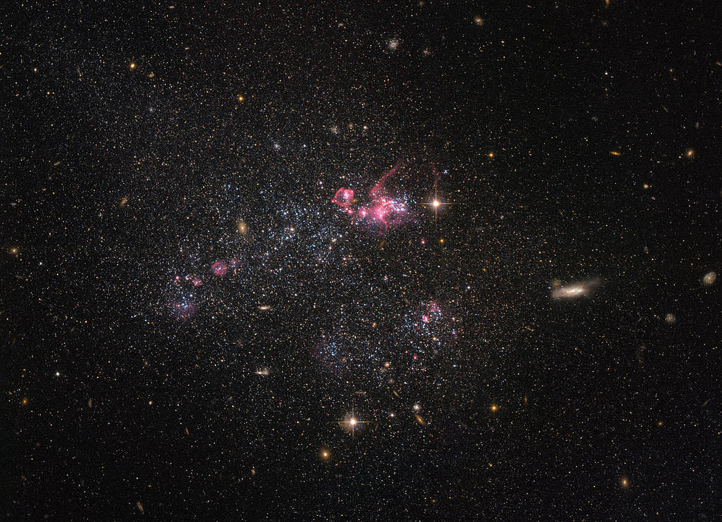 dwarf galaxy located approximately 11 million light-years away