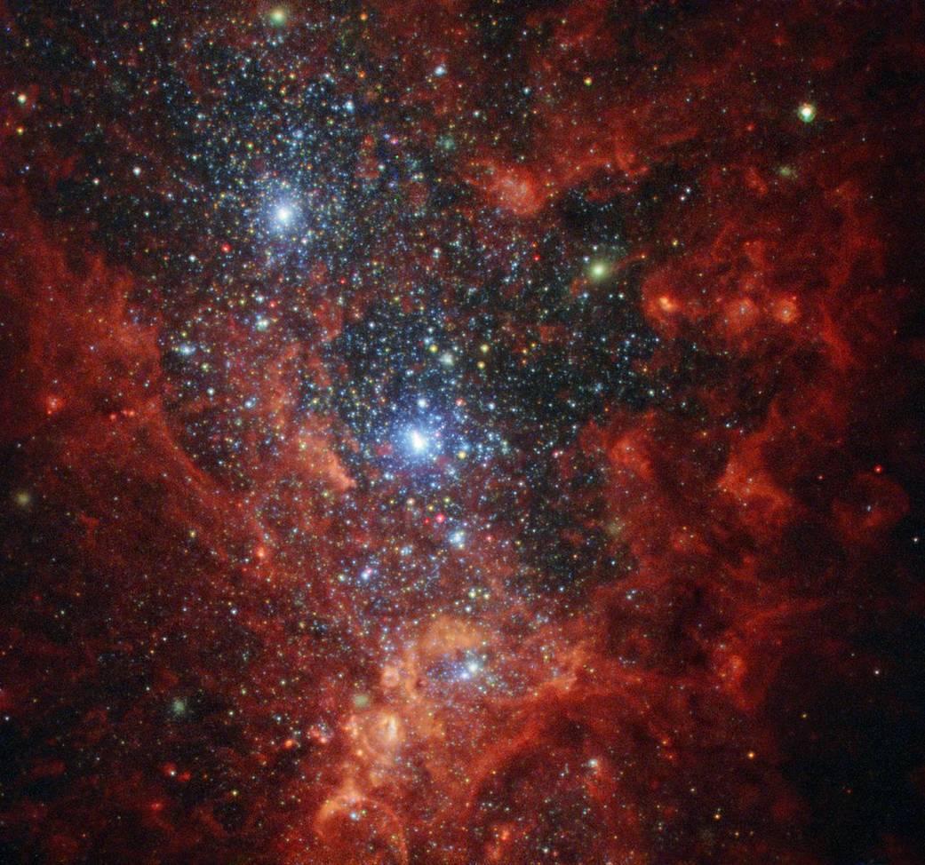 Iridescent interior of galaxy NGC 1569