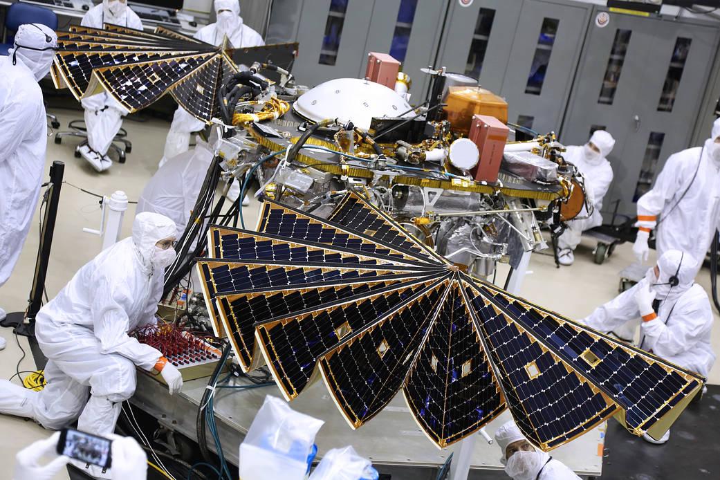 InSight Lander Solar Array Test