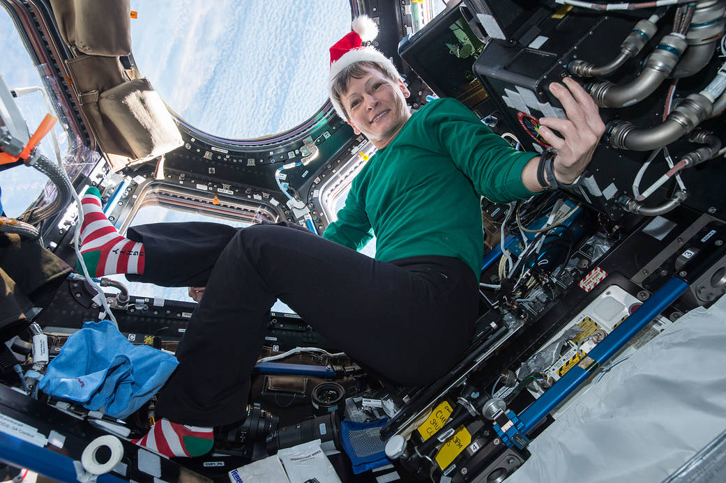 Astronaut Peggy Whitson in the Festive Spirit