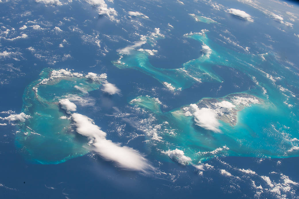 Bahamas photographed from low Earth orbit