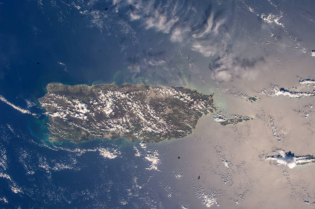 Puerto Rico photographed from low Earth orbit