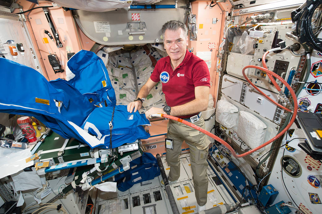 Expedition 53 Flight Engineer Paolo Nespoli