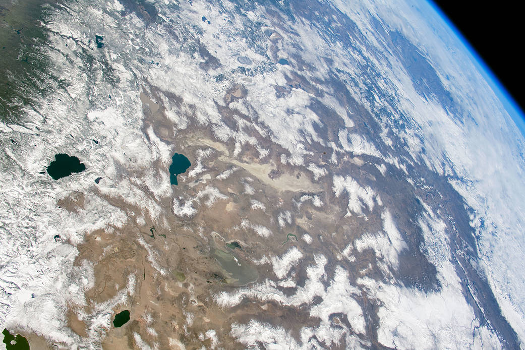 View of the American West from low Earth orbit
