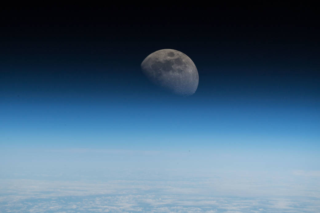 Earth's Moon as seen from the Space Station