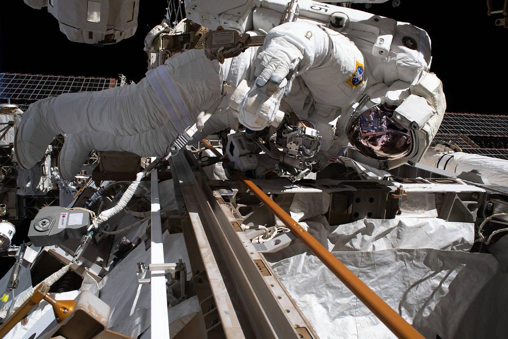 Andrew Morgan, Exp. 61 spacewalk, November 22, 2019