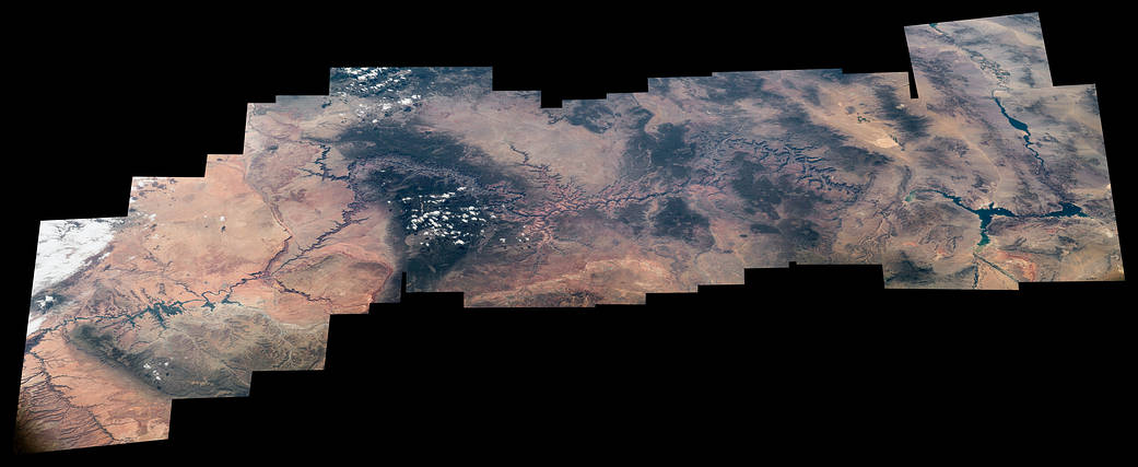 Grand Canyon National Park composite image from low Earth orbit