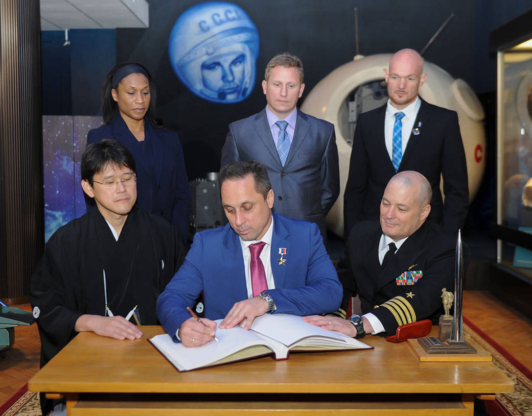Expedition 54-55 Ceremonial Book Signing