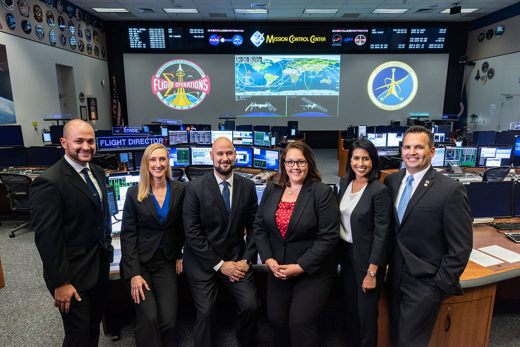 The 2018 Class of NASA Flight Directors for the Mission Control Center