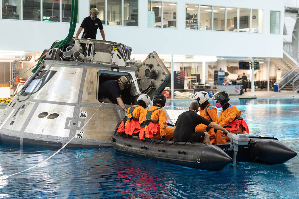 SpaceX Crew-3 astronauts participate in water survival training