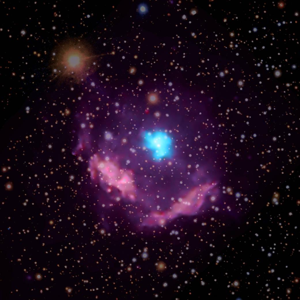 Vědci objevili nejmladší známý pulzar v Mléčné dráze, má 500 let