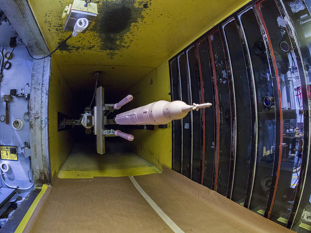 Space Launch System Booster Separation Tested In Wind Tunnel