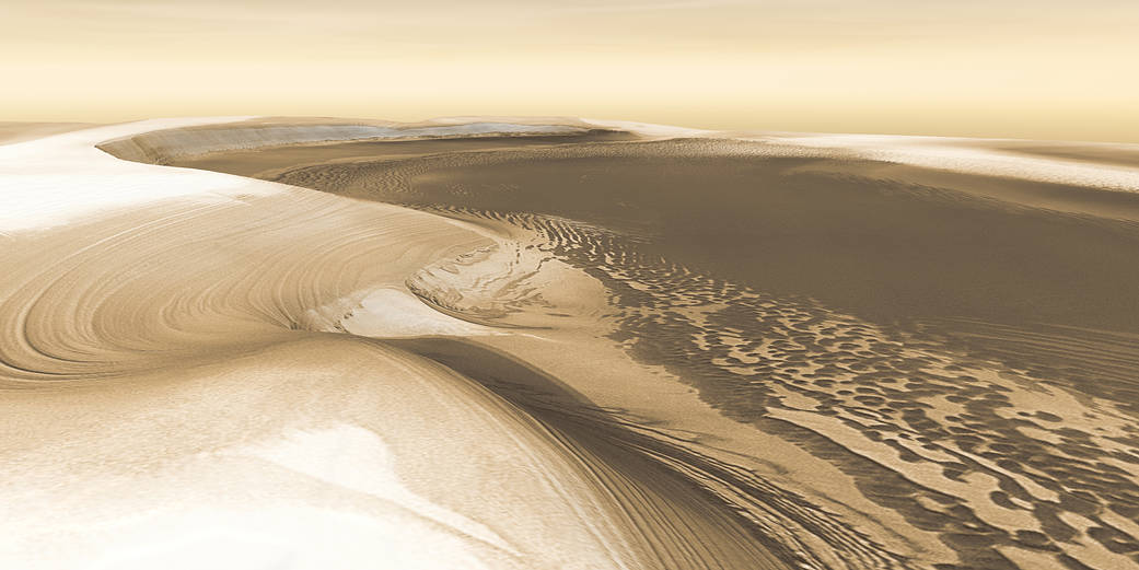 3-D perspective of Mars