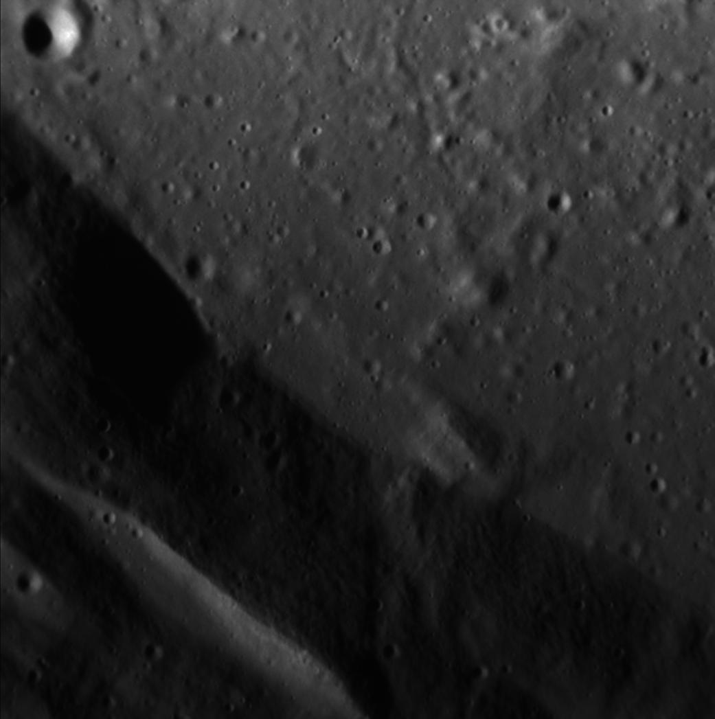 Impact crater floor