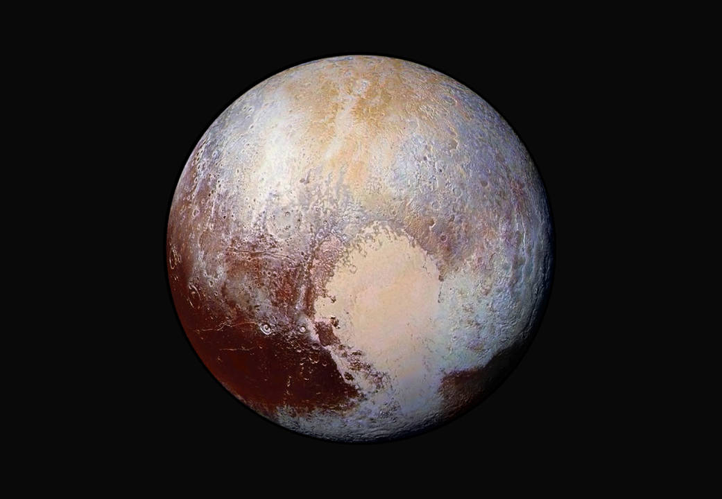 False color image of Pluto