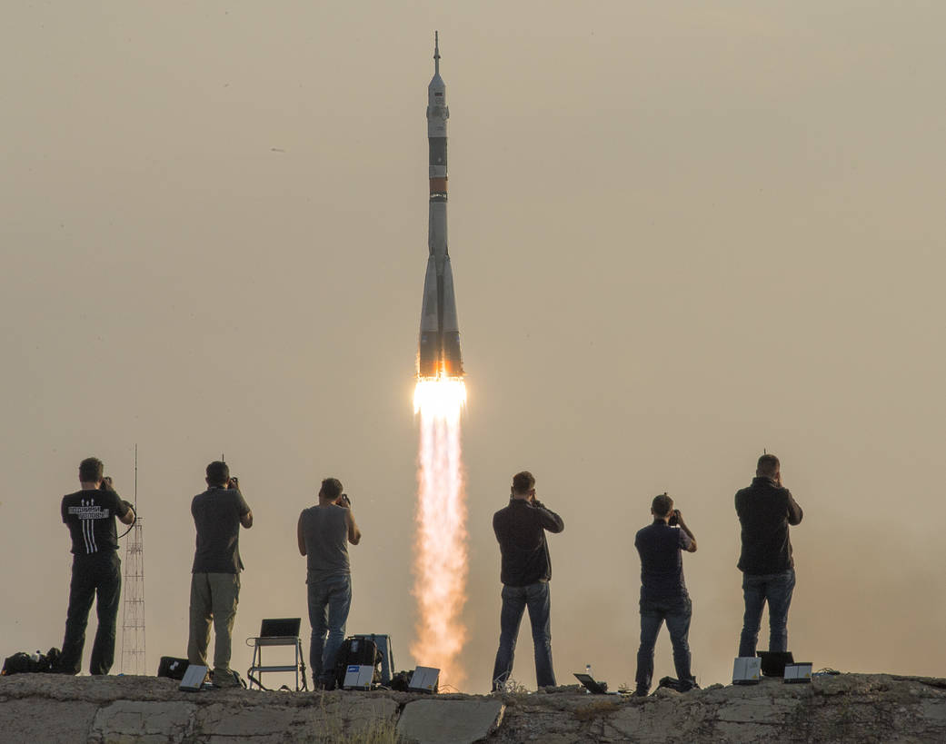 Expedition 48 Crew launches to the International Space Station.