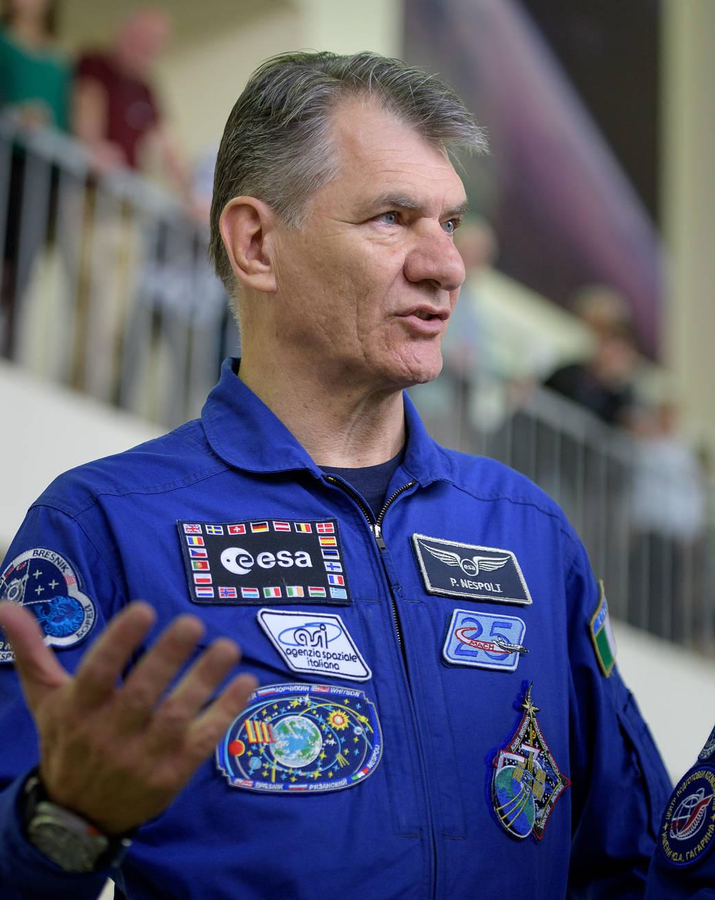 Expedition 52 flight engineer Paolo Nespoli of ESA