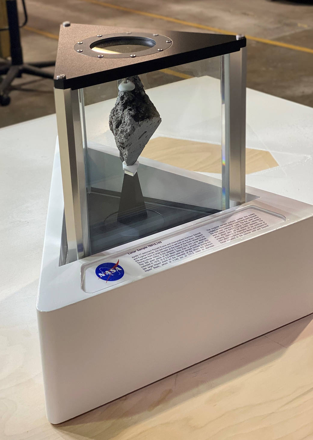 Moon rock on display in the Oval Office beginning Jan. 20, 2021.