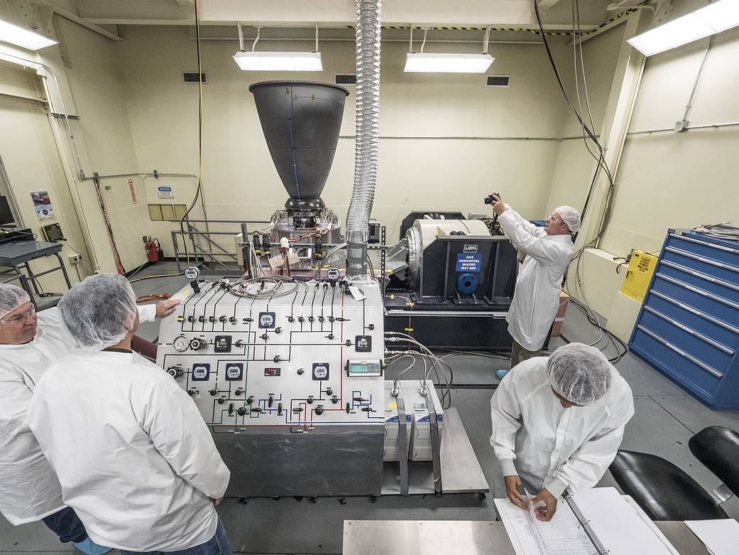 Engineers Shake Down Engine for Orion Service Module