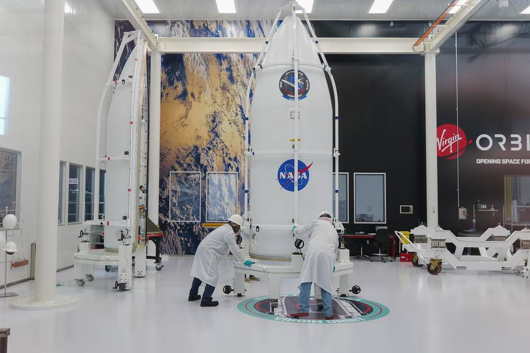 Virgin Orbit teammates complete a dry run of payload encapsulation ahead of their Launch Demo 2 mission.