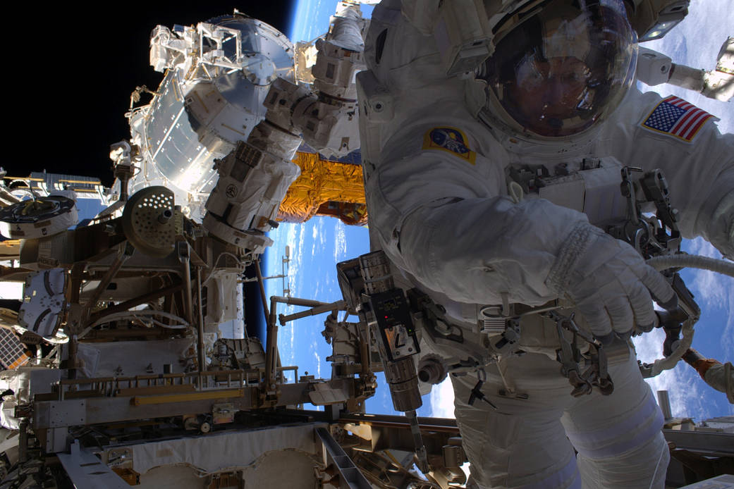 Peggy Whitson During Her 7th Spacewalk Last Week