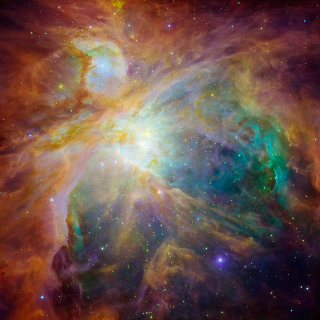 Cloudy Orion Nebula