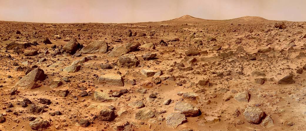 Los picos gemelos de Marte.