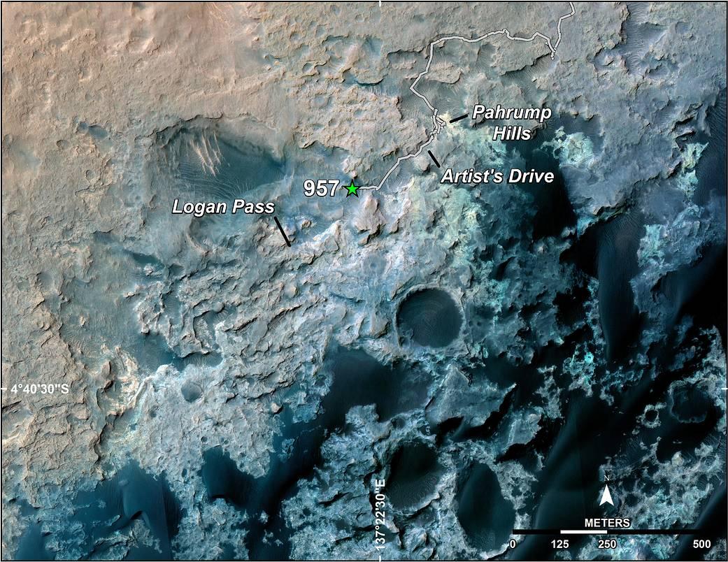 Η Θέση του Curiosity Μετά από 10 Χιλιόμετρα