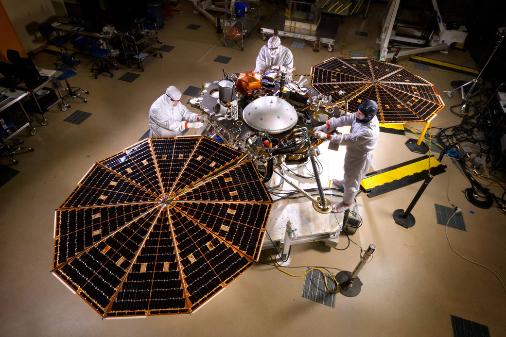 The solar arrays on NASA's InSight lander
