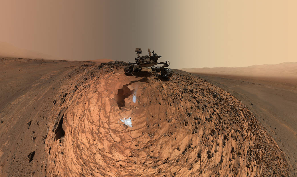 Low-angle self-portrait of NASA's Curiosity Mars rover