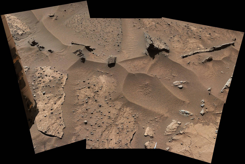 Patches of Martian sandstone