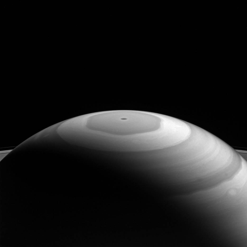 Saturn's north polar region