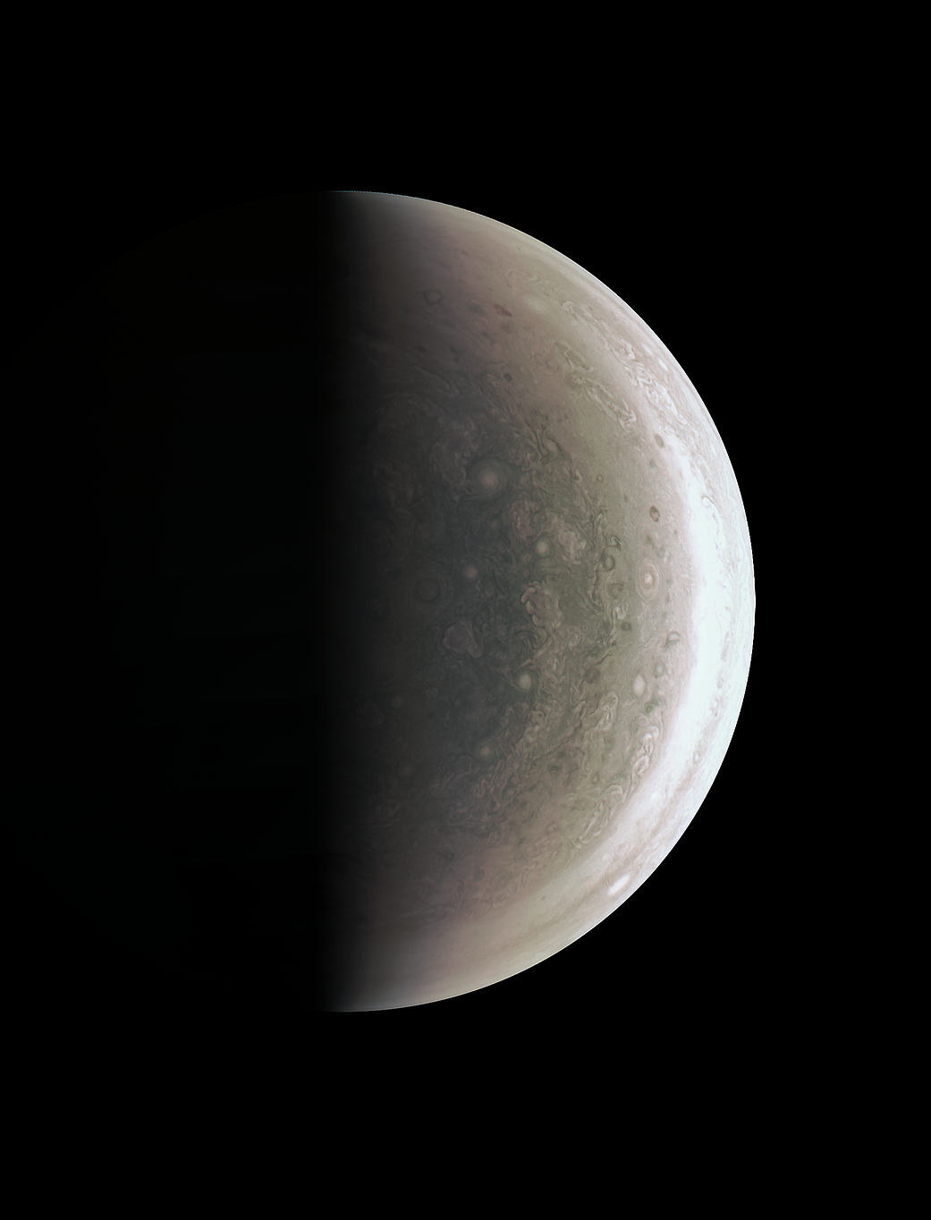 Jupiter's south polar region