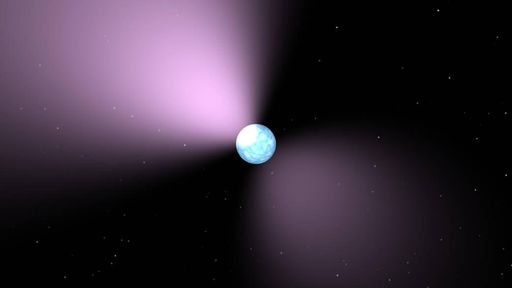 Vue d'artiste d'un pulsar - Credit: SA/JPL-Caltech