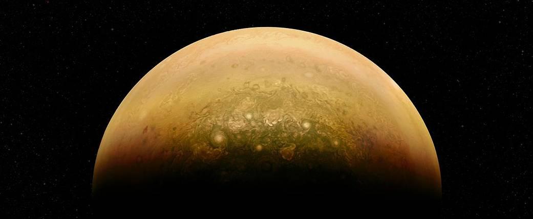 Sunlit side of Jupiter