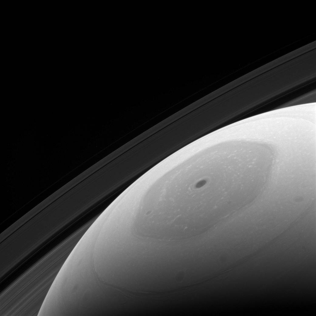 Saturn's hexagonal polar jet stream