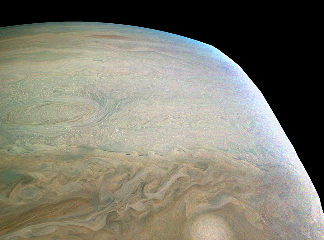 Enhanced-color image of Jupiter