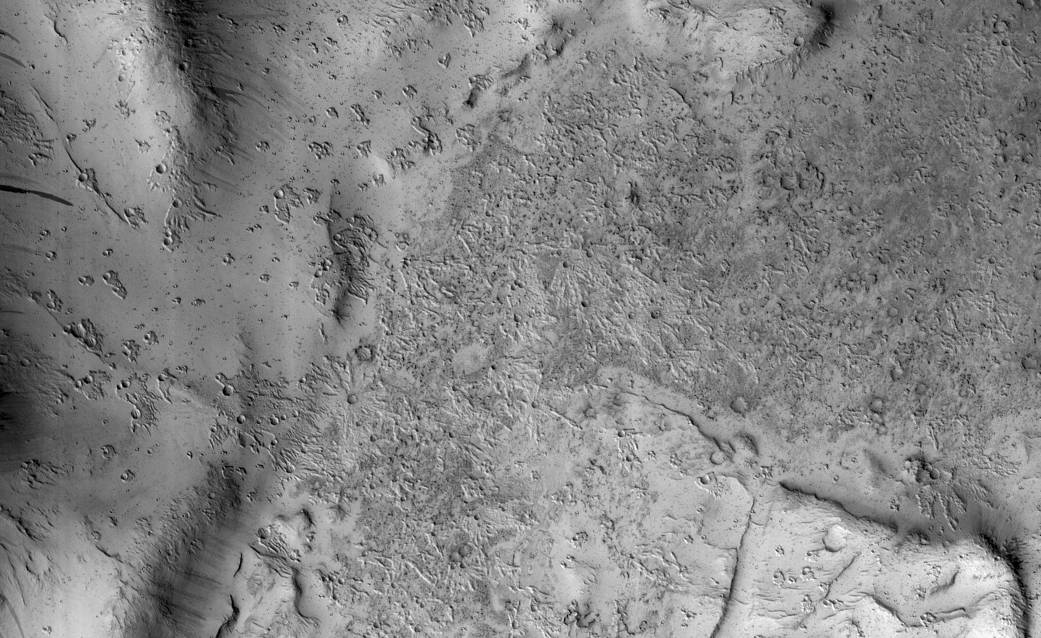 NASA's Mars Reconnaissance Orbiter (MRO) captured this region of Mars