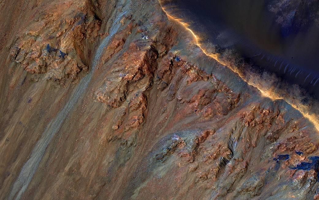 Gullies in Krupac Crater