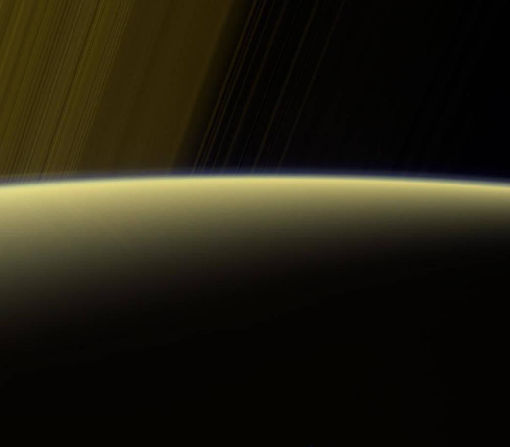 False-color view of Saturn