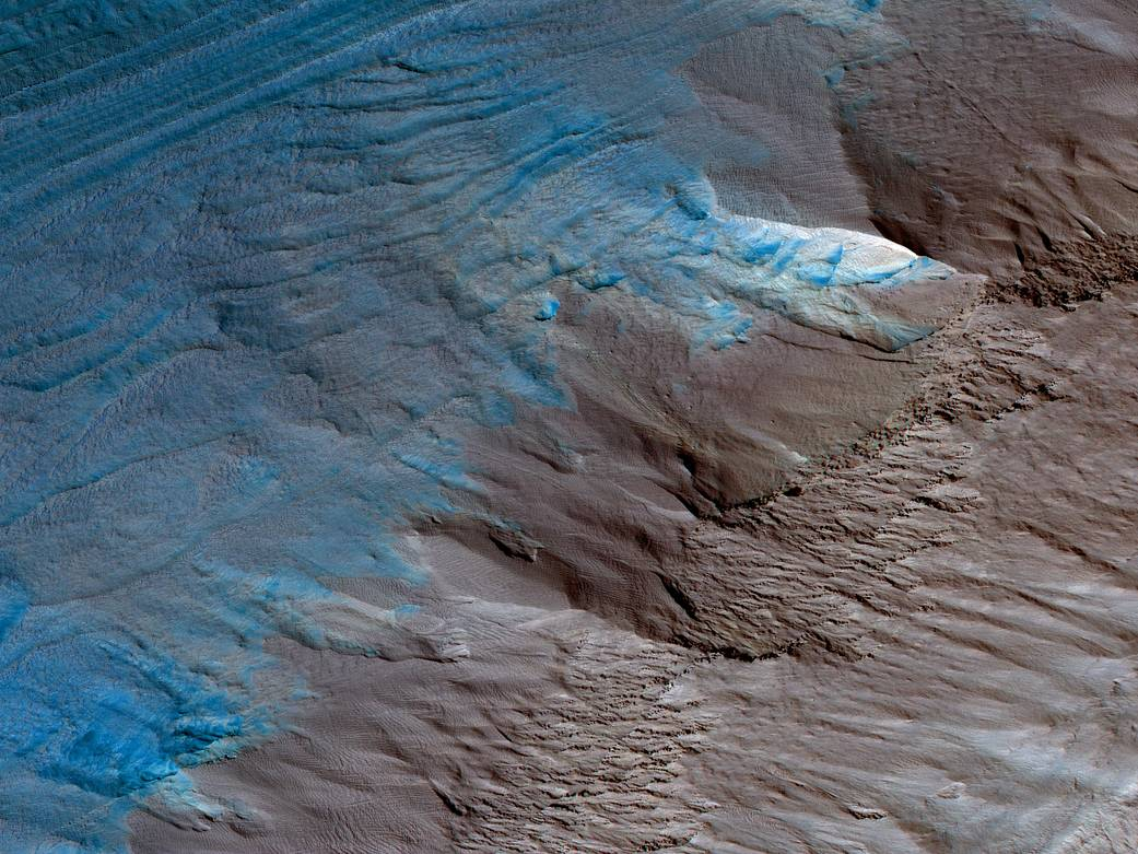 South Pole on Mars