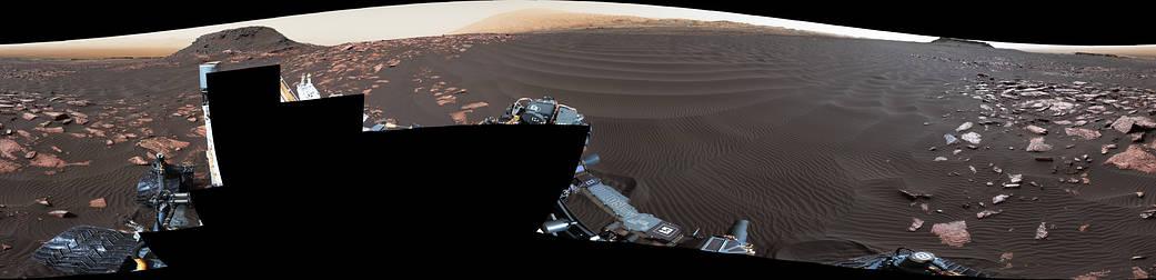 'Nathan Bridges Dune' on a Martian Mountain