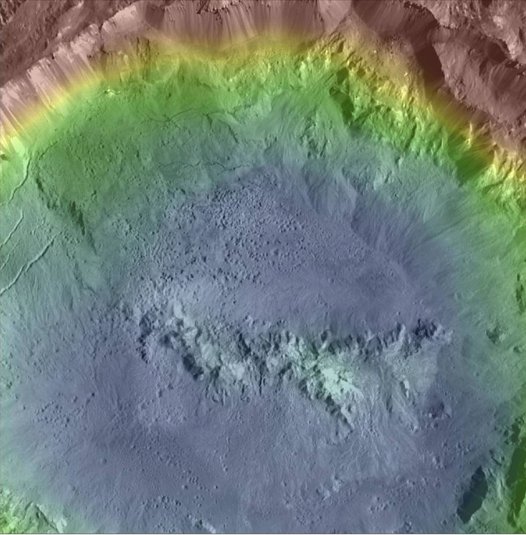 Enhanced color composite images of Ceres