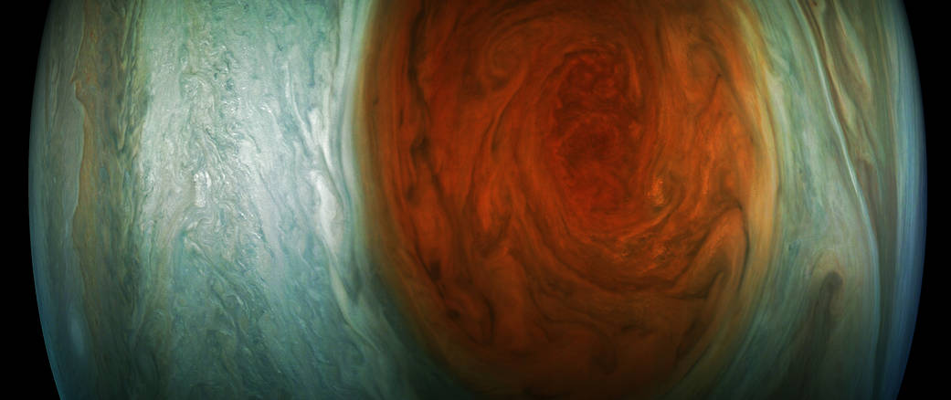 Jupiter's Great Red Spot (Enhanced Color)