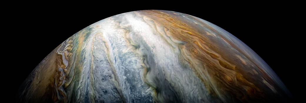 Jupiters farverige skybælter