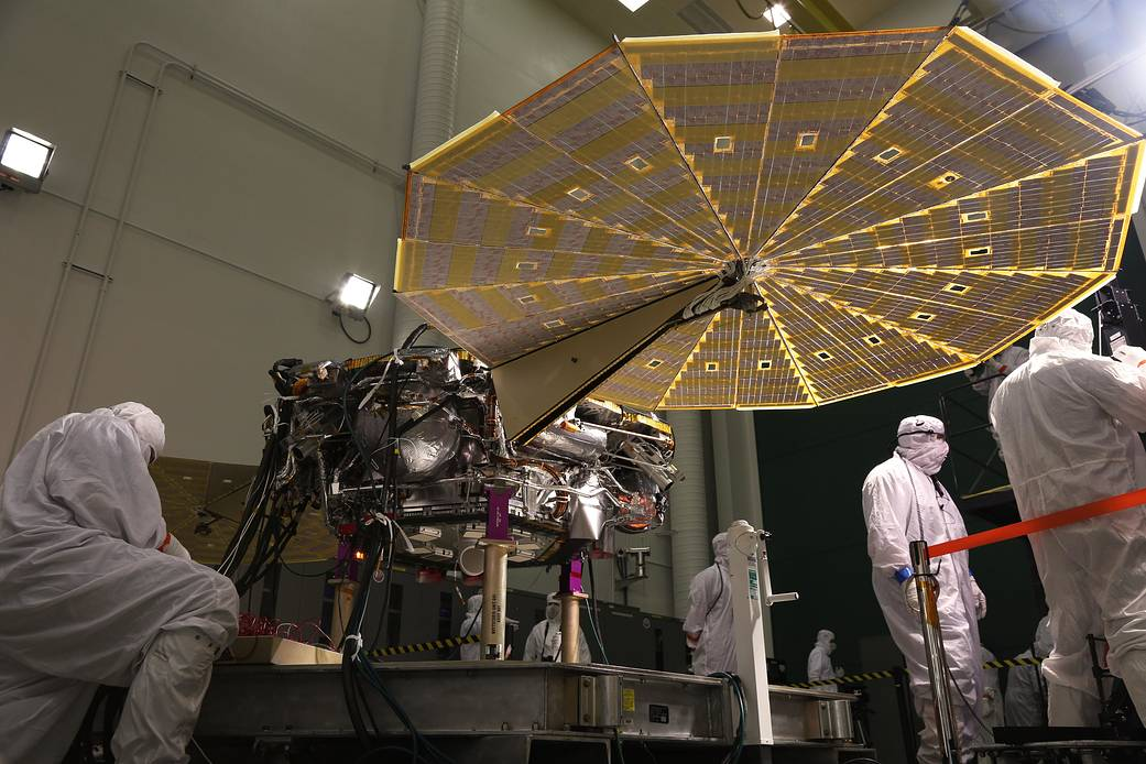 NASA's InSight lander was commanded to deploy its solar arrays to test and verify the exact process that it will use on Mars