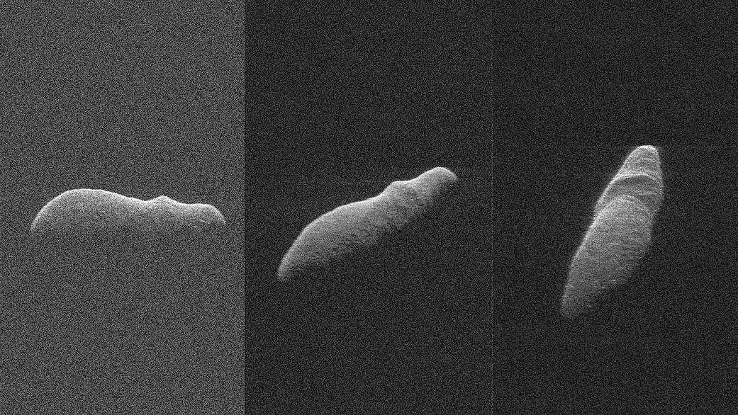 Three radar images of near-Earth asteroid 2003 SD22