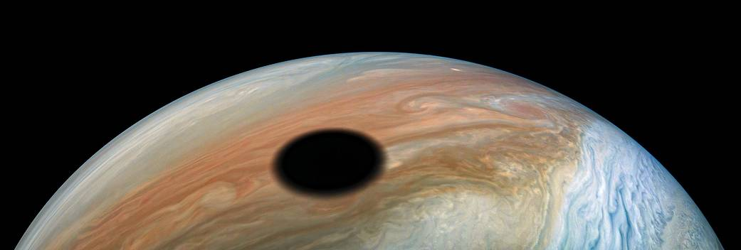 Moon Shadow Over Jupiter