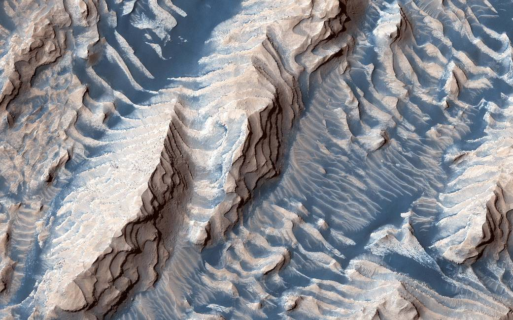 Danielson Crater on Mars