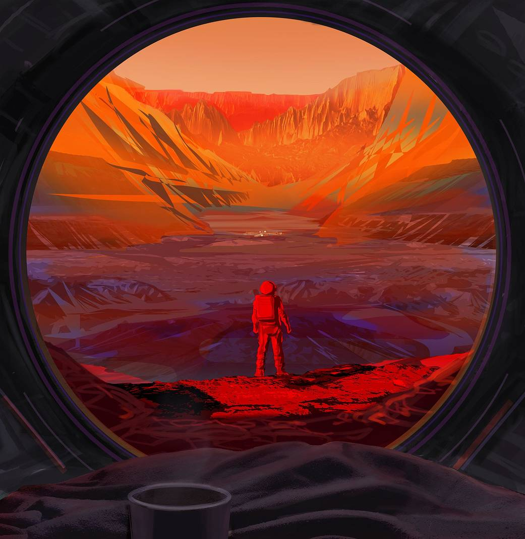 Artist's concept on NASA astronaut on Mars